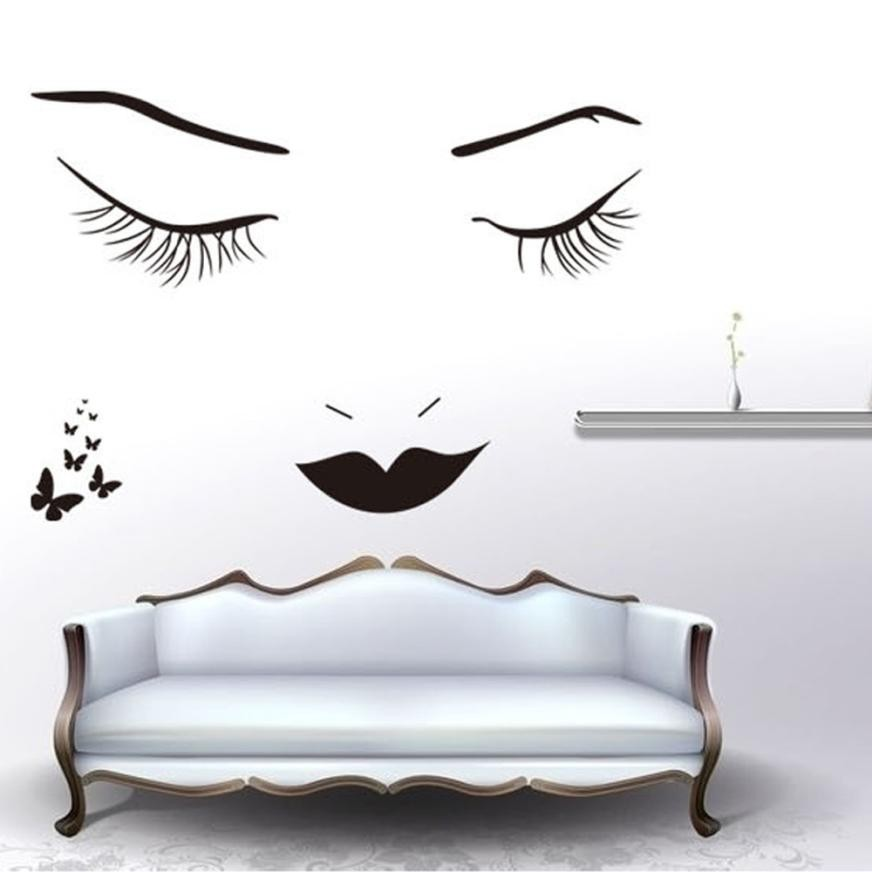 Eyelashes 3D DIY Wallpaper Wall Stickers home accessories Removable Art Vinyl Mural Home Room Decor #ss
