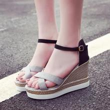 2018 New Fashion Womens Sandals Summer Wedges Shoes Lady aa0833