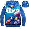 2016 crianças finding nemo clothing hoodies meninas roupa dos miúdos dos meninos camisola meninas dos desenhos animados roupas meninos hoodies encontrando o dory