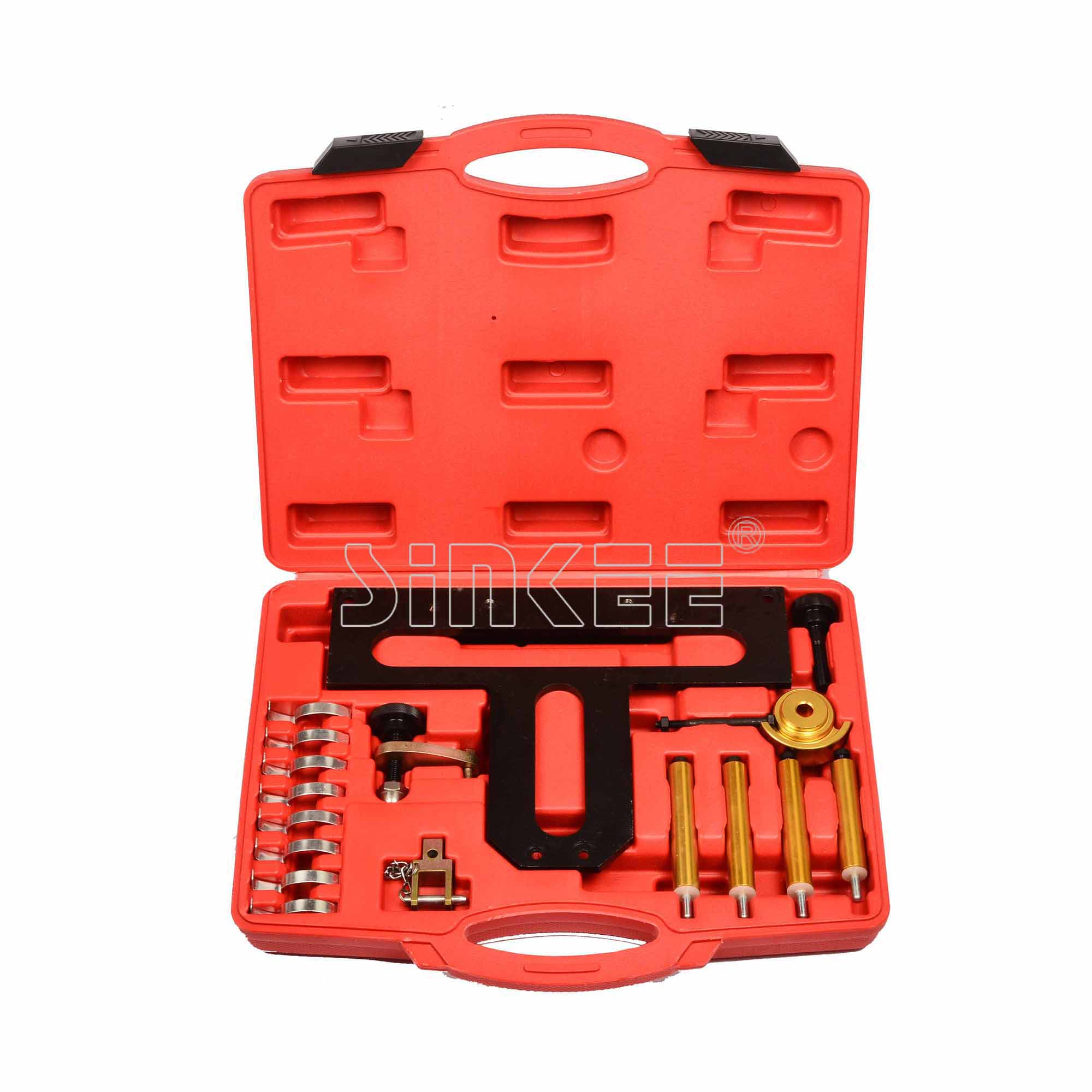 18 PC Professional Petrol Engine Timing Locking Tool Kit for BMW N42 N46 car petrol engine timing belt drive tool kit for ew engine code citroen peugeot 1 8 2 0 at2161