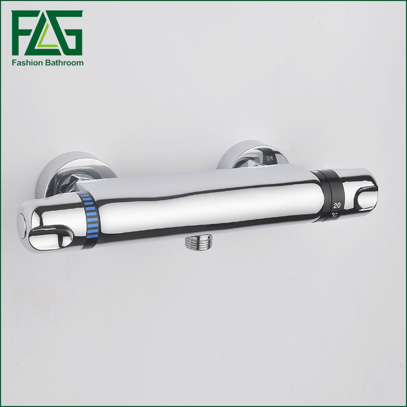 China Sanitary Ware Chrome Wall Mount Thermostatic Water Tap, Water Saver Thermostatic Shower Faucet