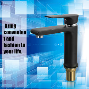 Bathroom Faucet Basin Single-Hole Black Frosted-Surface European-Style