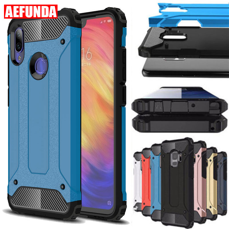Rugged Armor Mi 9 Lite SE 9T Case For Xiaomi Redmi K20 Note 5 6 7 8 Pro Case 4X 4 7A Mi A2 A3 8 Lite Pocophone F1 Cases Silicone