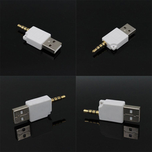 3.5mm USB Charger Adapter Data Sync Cable Cord Connector For Apple iPod Shuffle Dock Connector 4-pin 3-ring USB Charging Adaptor