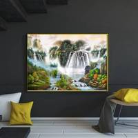 Mountains And Waters Painting Canvas Print High Quality For Home Decoration The Traditional Chinese Painting Wall