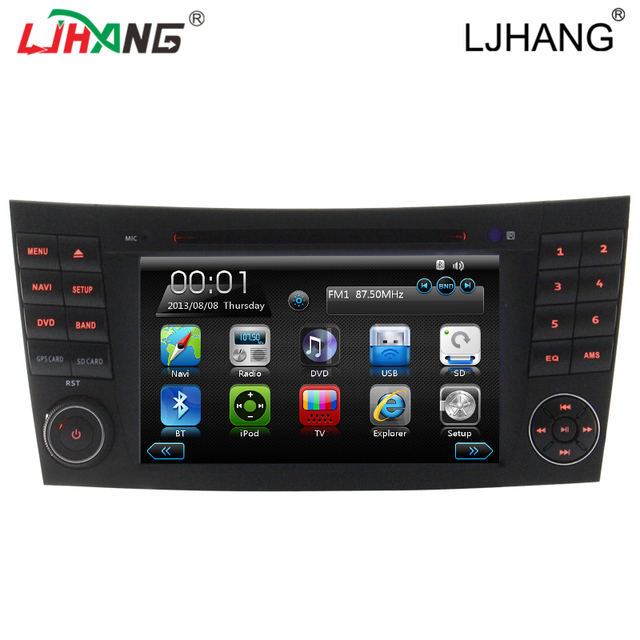 Free map 7 Inch Car DVD Player For Mercedes W211 navigation for /E300/CLK/W209/CLS/W219/G-Class Canbus Radio GPS BT IPod