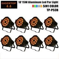 Wholesales 8XLOT LED Stage Light, Aluminum Par 15W 18pcs RGBWA 5IN1 Color Brightness by DMX 512 Control Black Painting OEM LOGO