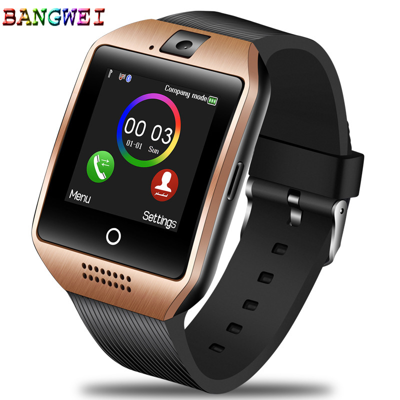 BANGWEI New Men Bluetooth Smart Digital Watch Ladies Sports Pedometer Clock LED Large Screen Color Touch SIMcreen Support TF SIM