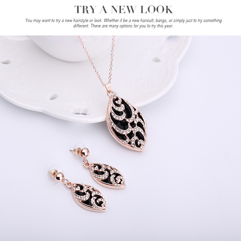Hot Set For Necklace Earrings Two Pieces Dress Wedding gift jewelry