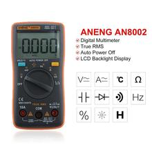 ANENG AN8002 Portable LCD Digital Multimeter 6000 Counts Backlight AC/DC Ammeter Voltmeter Ohm Meter Tester large lcd trms clamp multimeter 6000 counts temperature auto range ac dc ammeter with backlight free shipping ng4s