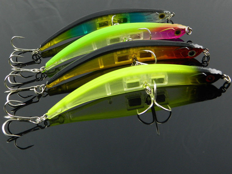 new arrival 20PCS Minnow plastic fishing lures named dying minnow hard bait fish 11.5CM  ...