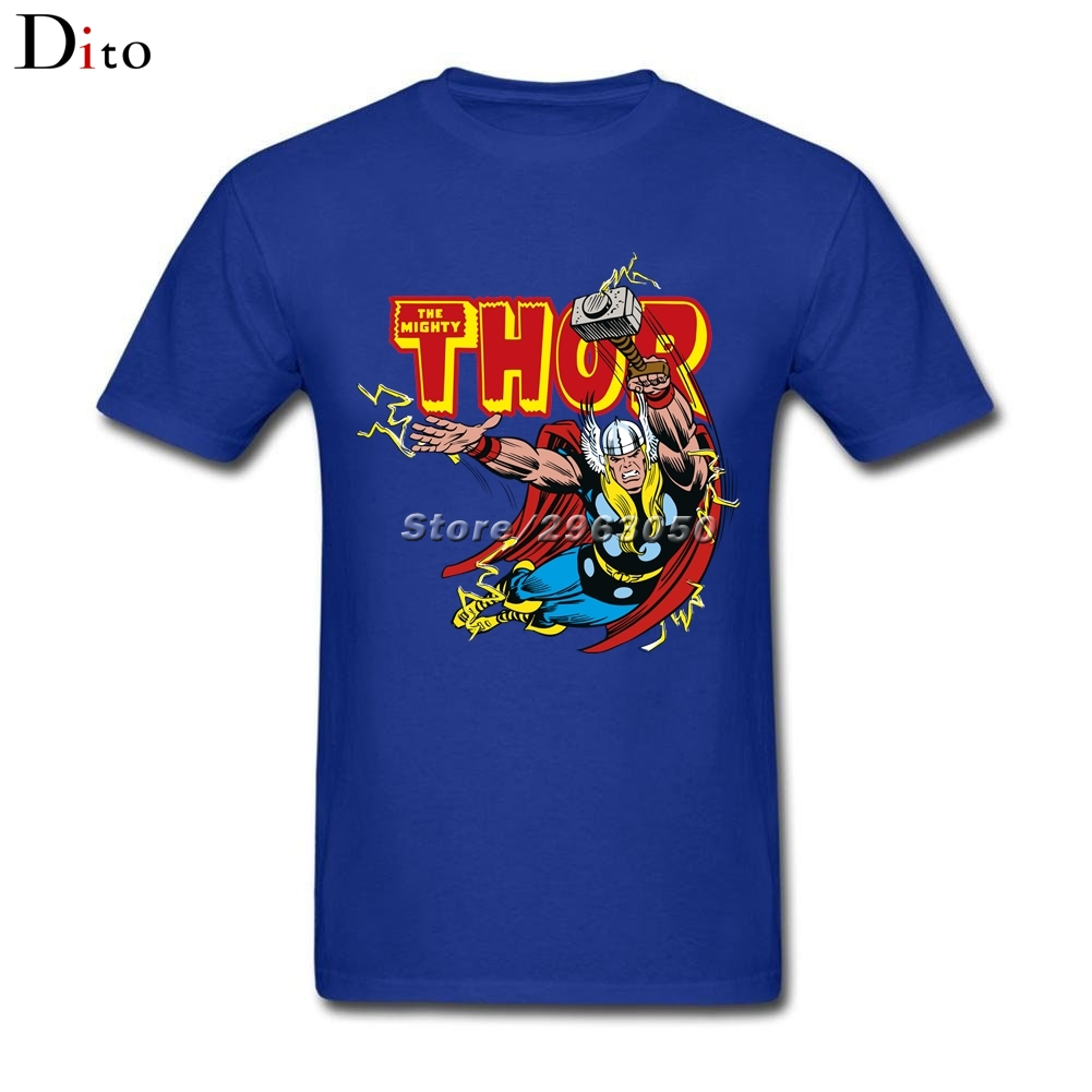 Thunder God Thor T Shirt Men Boy Designer Short Sleeve Cotton Custom 3XL Group Camiseta ...