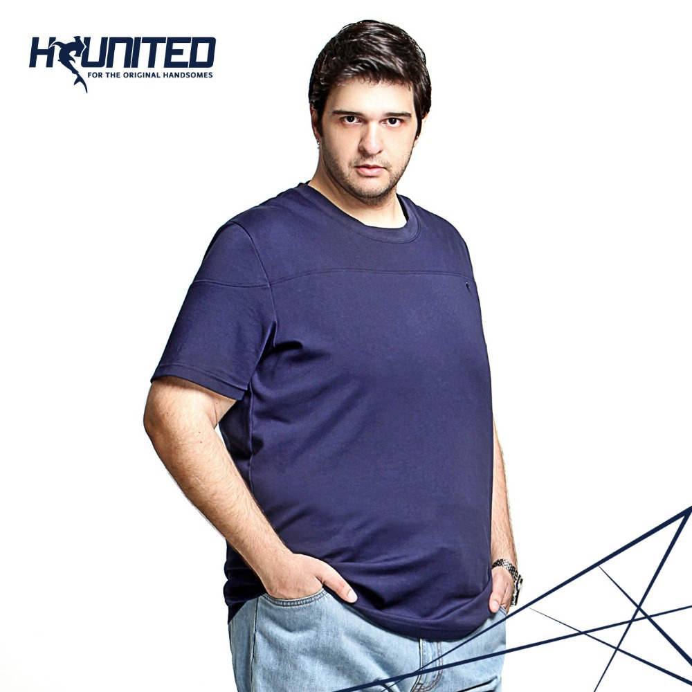 American and European Size Mens Plus Size T Shirt , Short ...