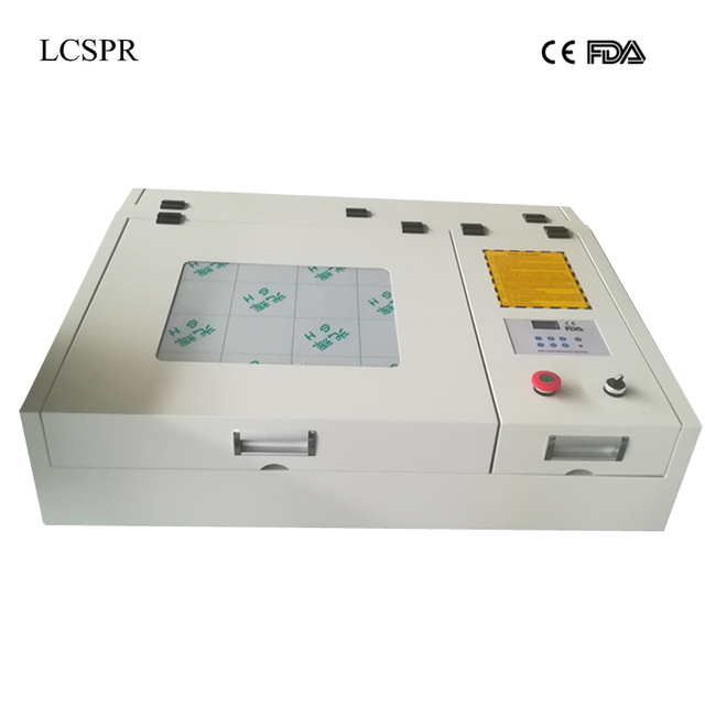50W CO2 laser 4040 laser engraver and cutter free shipping to Almaty and Moscow city include customs duty and tax!