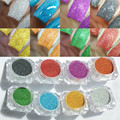 1 Box 1g Holographic Laser Nail Glitter Powder Rainbow Color Shiny Nail Glitters Manicure Chrome Pigments Holographic Glitter