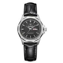 Nuodun Señoras Relojes de Primeras Marcas de Lujo Fecha Resistente Al Agua Luminosa Reloj de Las Mujeres Negro Irregular Heren Horloges Topmerk Luxe