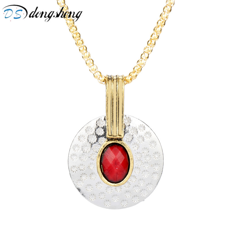 dongsheng Movie Red Rhinestone The Avengers 3 Thanos America Comic Captain America Civil War Avengers Scarlet Witch Necklace-30 image