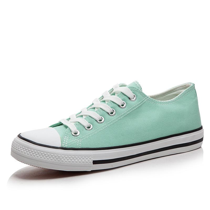 Woman Canvas Shoes Flat Platform Loafers Vulcanize