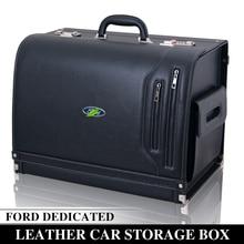 Посвященный Ford коробка для хранения карнавал лиса Mondeo победы sharp авантюрист автомобиля кожаный ящик для хранения автомобиля ящик для хранения багажник