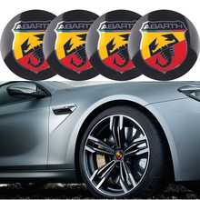 4pcs 56.5mm For abarth logo aluminum car emblem Wheel Center Hub sticker Rim badge fiat punto 500 stilo ducato