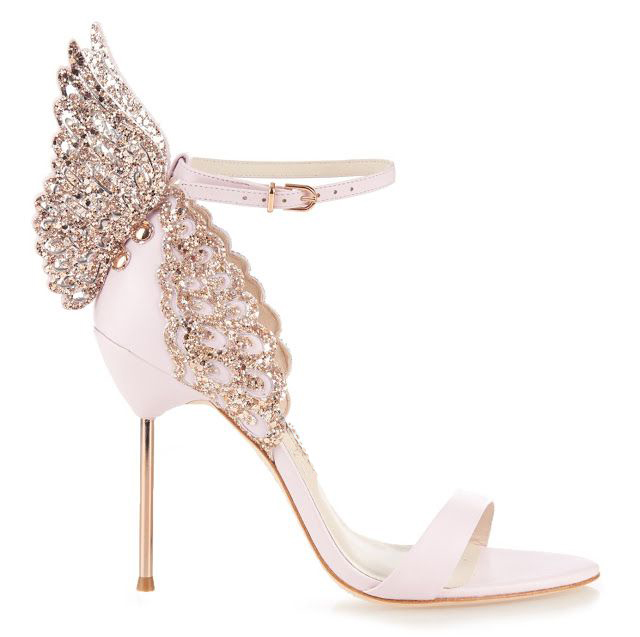 3b7ad3ee0ff3 Zapatos Mujer Gorgeous Summer Women Shoes Rose Gold Metallic Butterfly  Wings Siper High Heels Sandals Ankle-Strap Women Pumps