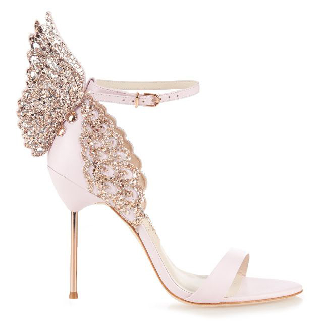 0ed1d1b4407 Zapatos Mujer Gorgeous Summer Women Shoes Rose Gold Metallic Butterfly  Wings Siper High Heels Sandals Ankle-Strap Women Pumps