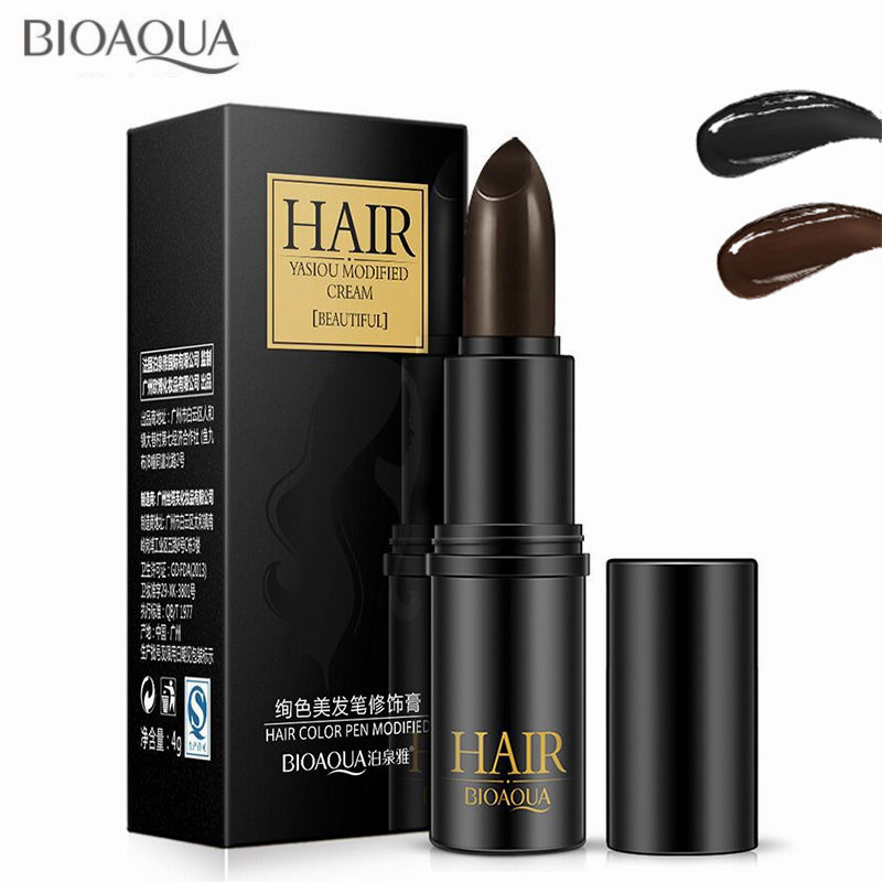 BIOAQUA Temporary Hair Dye Cream Black Brown Mild Fast One-off Hair Color Pen Cover White Hair DIY Styling Makeup Stick Chalk серум за растеж на мигли