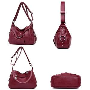 Image 4 - 高級ハンドバッグの女性のデザイナーソフトのレザーハンドバッグショルダーバッグ女性 2019 クロスボディバッグ嚢