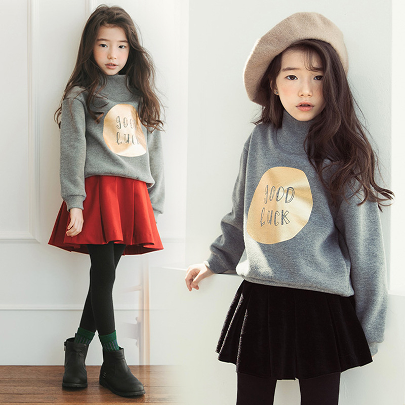 все цены на 2018 New Boys Girls Hoodies Clothes Children Winter Thick Sweatshirts Toddler Casual Sweater Kids Plus Velvet Tops Costume CC511 онлайн