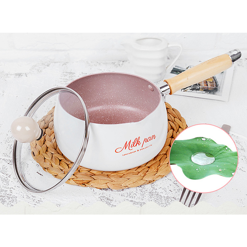 16 CM Useful No-Stick Pot Mini Milk Pans Chocolate Milk Soup Heating Pot General Use For Gas & Induction Cooker