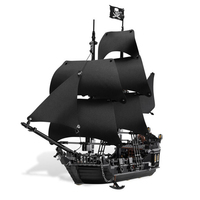 Lepin Diy Creative Movie Series Pirates Caribbean Ship Model Building Blocks Compatible With Legoingly Bricks Toys