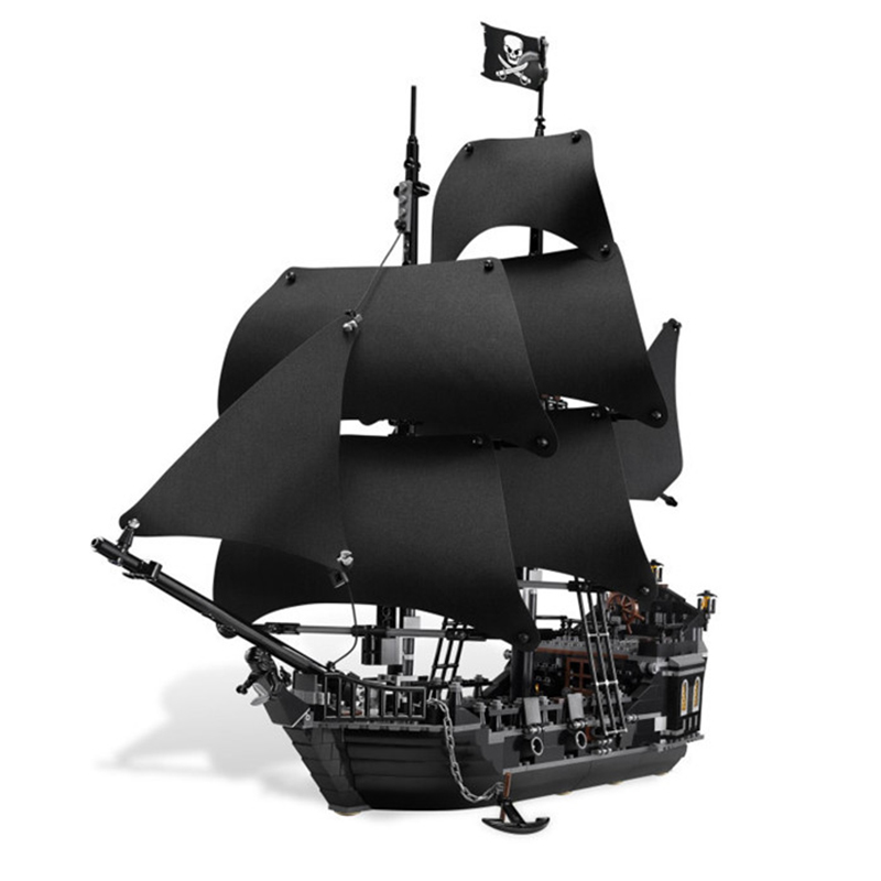 Diy Creative Movie Series Pirates Caribbean Ship Model Building Blocks Compatible With L Brand Bricks Toys For Children kazi pirates ship building blocks sets black pearl diy model 652pcs bricks christmas gifts toys for children birthday