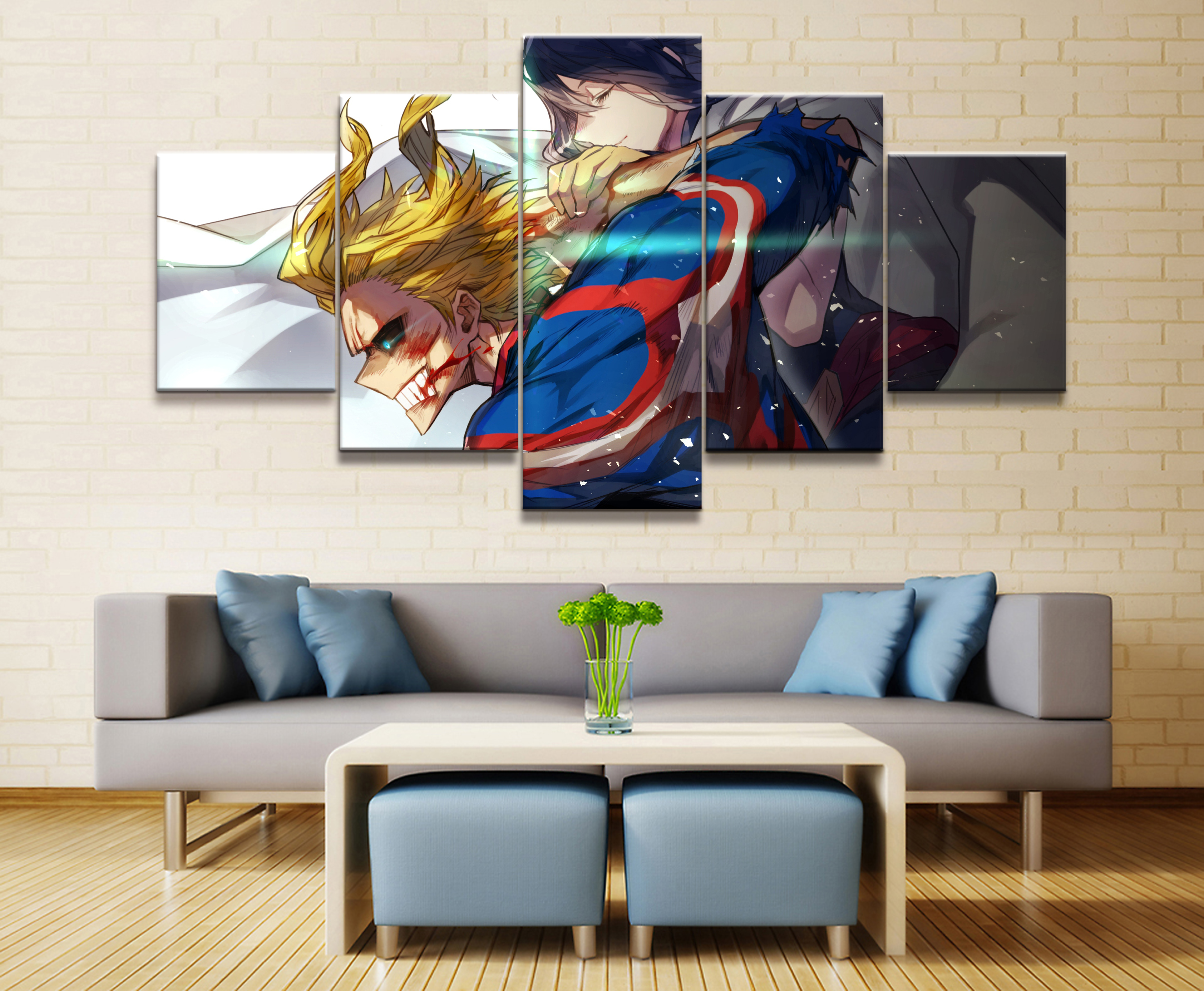 Wall Art Poster Painting Modular Pictures For Living Room Decorative Pictures Canvas Printed 5 Panel My Hero Academia Animation