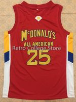 25 DERRICK ROSE Dolphins McDonald ALL AMERICAN Mens Basketball Jersey embroidery Stitched Custom Any name and number