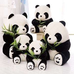 Image 2 - 1PC 9 16cm belle mignon Super peluche Animal doux Panda en peluche jouet anniversaire noël bébé cadeaux présents jouets en peluche pour les enfants