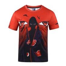 3D Print Naruto Uchiha Itachi Shirts Men Anime T shirt Clothes t Summer Top Cosplay Costume New