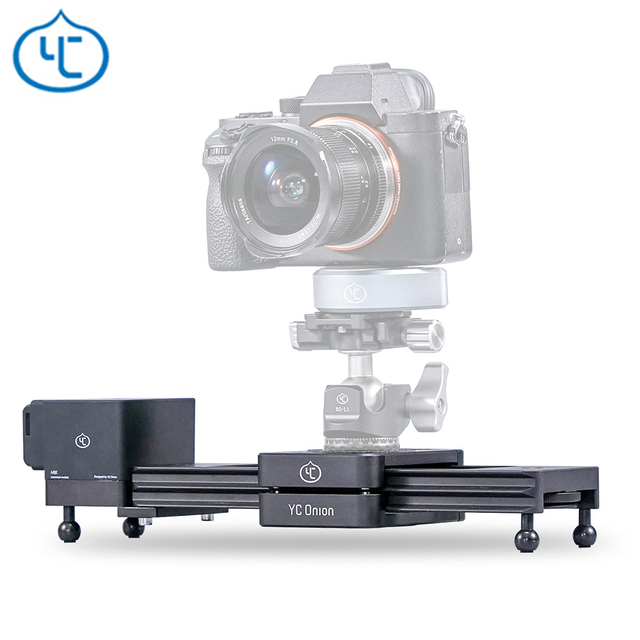 YC Onion Chocolate Motorized Camera Slider Aluminum Alloy Lightweight Portable for DSLR Mirrorless Camera Bluetooth APP Control