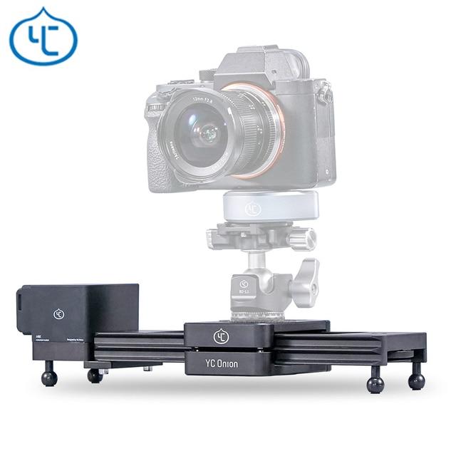 YC Zwiebel Schokolade Motorisierte Kamera Slider Aluminium Legierung Leichte, Tragbare für DSLR Spiegellose Kamera Bluetooth APP Control