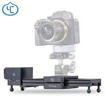 YC oignon chocolat motorisé caméra curseur en alliage daluminium léger Portable pour DSLR caméra sans miroir Bluetooth APP contrôle