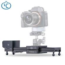 Yc 양파 초콜릿 동력 카메라 슬라이더 알루미늄 합금 경량 휴대용 dslr 미러리스 카메라 블루투스 app 제어