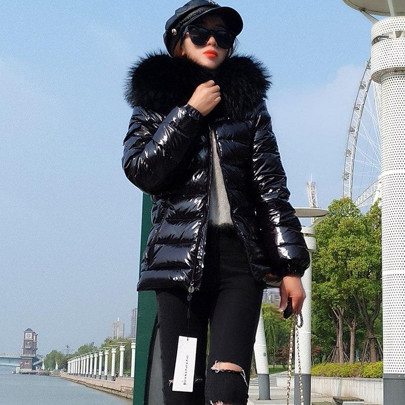 겨울 여성 자켓 소녀 겨울 자켓 자연 모피 코트 후드 여성 자켓 2019 신규-에서다운 코트부터 여성 의류 의  그룹 2
