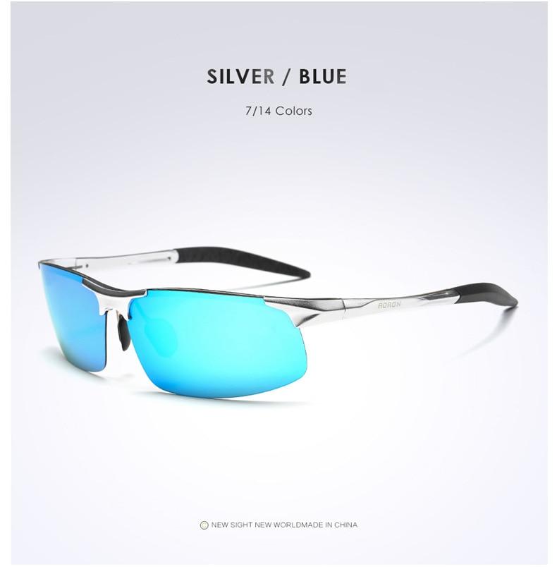 AORON Driving Polaroid Sun Glasses Aluminum Frame Sports Sunglasses Men Polarized Driver Retro UV400 Anti-glare Goggles 11