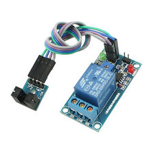 PCB Board 1 Channel PLC Relay Module + Slotted Optical Switch Sensor for Arduino
