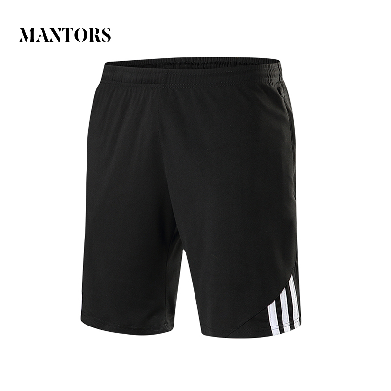 2018 New Casual Men Shorts Summer Solid Knee Length Beach Shorts Male Elastic Waist Slim Fit Exercise Striped Mens Jogger Shorts