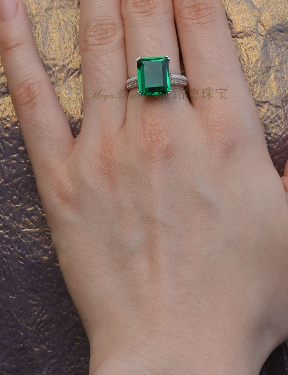 emerald rings differences between the real and synthetic. Synthetic Emerald Ring Square Shape 925 Sterling Silver White Gold Plated Luxury And Elegant Female Gift Excellent Workmanship-in Rings From Jewelry Differences Between The Real E
