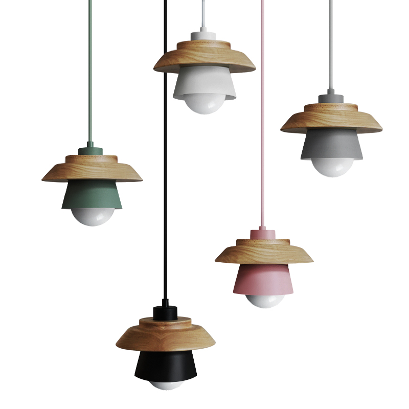 Modern Colorful Pendant Lights Nordic Wood Pendant Lamp Lustres Art Deco Hanglamp Living Room Suspension Luminaire Lamparas nordic magic bean pendant lights glass lampshade g4 lustre led lamp art deco lamparas colgantes hanglamp suspension luminaire