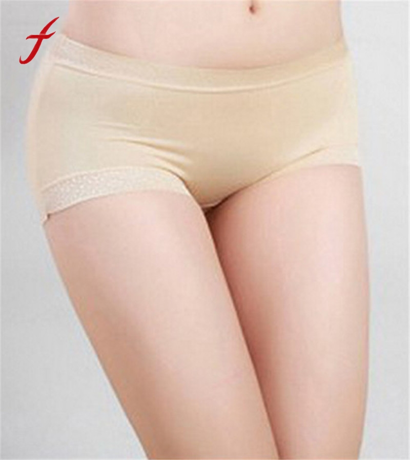 High Quality Women Satin Boy Shorts Solid Ladies Boxers Knickers Panties for Women Underwear 2019 New Fashion sexy panties Женские трусы