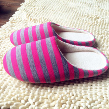 4 Color Winter Warm Soft indoor floor Slippers Women/Men/Children Shoes Striped Cloth Bottom Universal Couple Lovers Plush Home