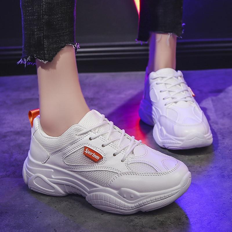Stylish Women Running Shoes Increasing 5CM Sneakersrts Walking Women's Running Shoes