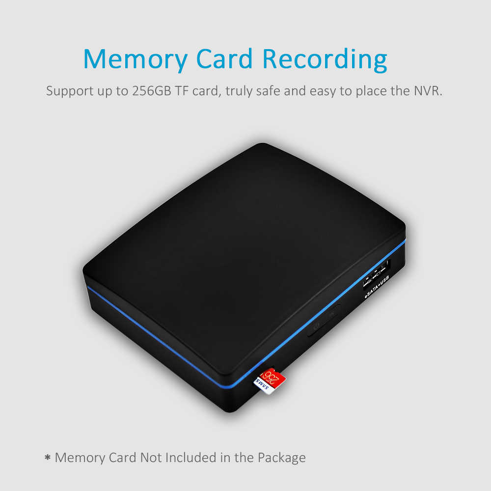 ENSTER XMEYE APP Super Mini H 264 and H 265 NVR Support 4CH 5MP/ 8CH 4MP  Onvif IP Camera, TF Card/ USB HDD/ E-SATA HDD Recording